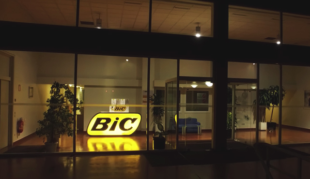 BIC office lobby window
