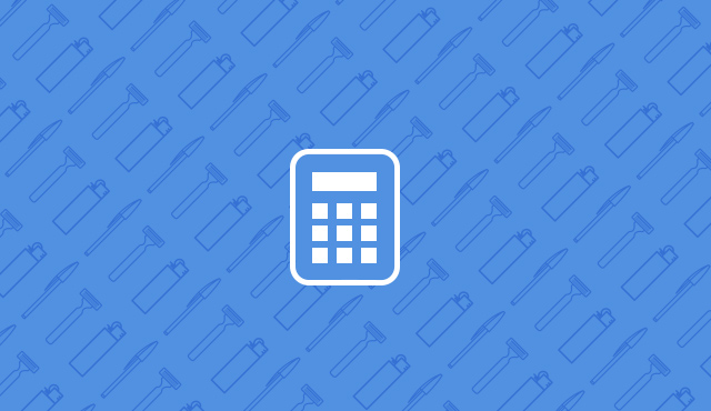 calculator icon on a blue background