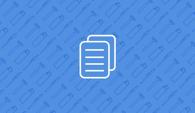 document icon on a blue background