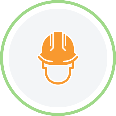 head with hard hat icon
