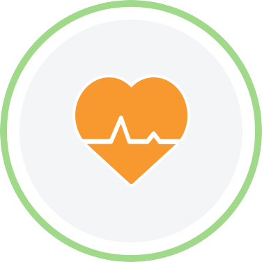 Heart with pulse line icon