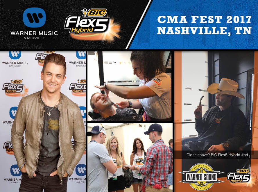 Country Artists and Warner Music Nashville  Help Launch New BIC® Flex5 Hybrid™ Razor