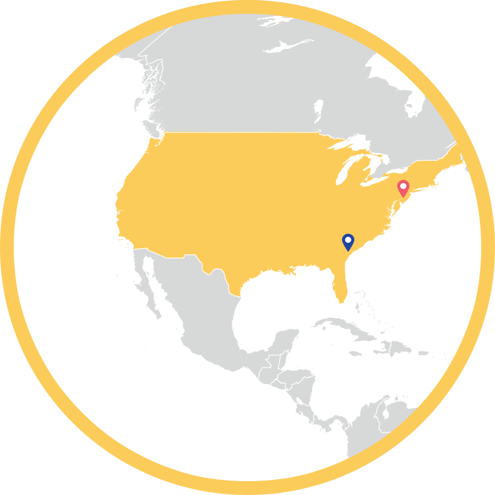 map of North America factories